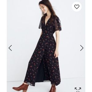 Madewell Tulip Sleeve Maxi Dress in sweet blossoms